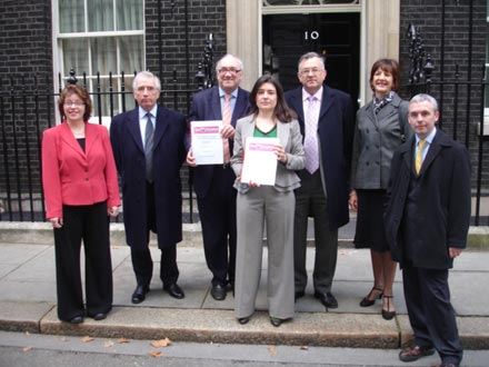 Five Parishes Opposition Group at Downing Street